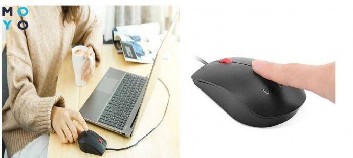 Lenovo Fingerprint Biometric USB Mouse (4Y50Q64661)