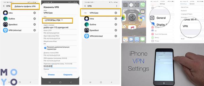VPN для iPhone, iPad