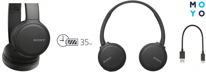 Автономность и зарядка Sony WH-CH510