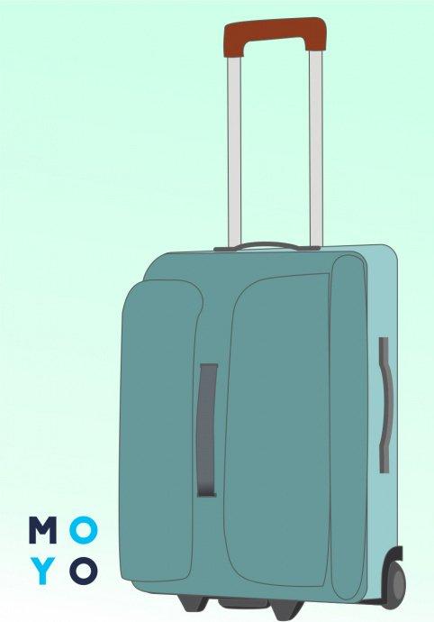 Пластиковый и тканевый чемодан