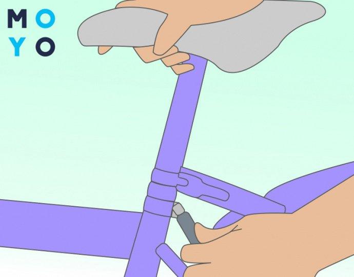 Регулировка сиденья на детском велосипеде