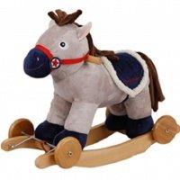 """Детское кресло-качалка с колесами ROCK MY BABY """"Музыкальная пони"""" (JR265)"""