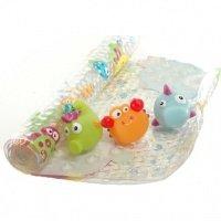 Набор коврик для ванны + 3 игрушки BABY TEAM (7410)