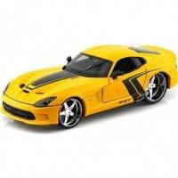 Автомодель MAISTO 1:24 SRT Viper GTS-тюнинг (31363 yellow)