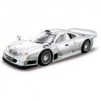 Сборная автомодель MAISTO 1:26 Mercedes CLK-GTR street version (39949 silver)