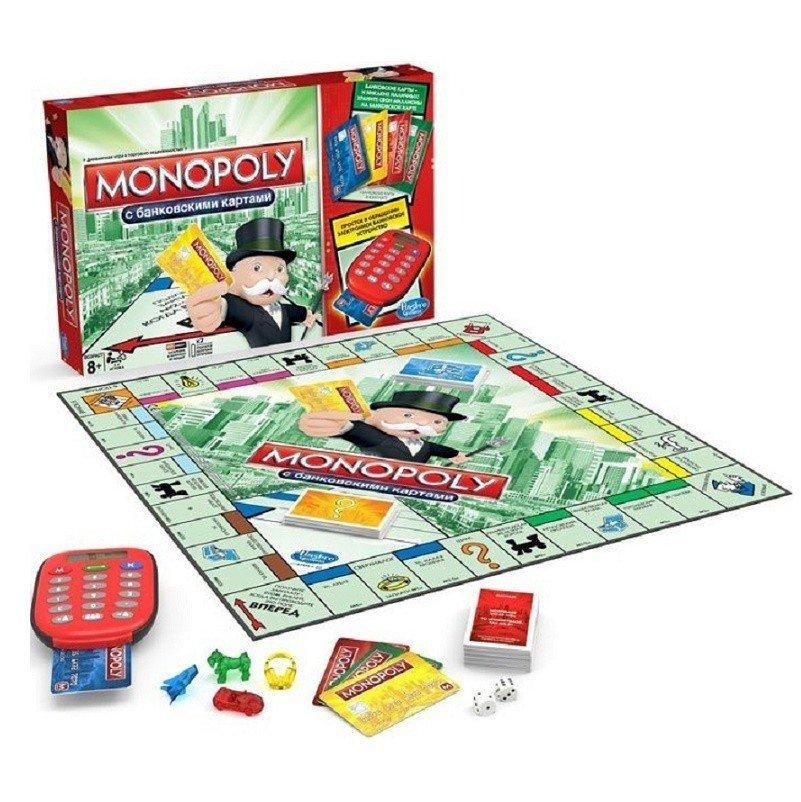 Настільна гра HASBRO MONOPOLY МОНОПОЛІЯ з банківськими картками (A7444)фото1 735e20bfe5ba6