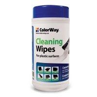 Чистящее средство ColorWay Салфетки для оргтехн, спирт. 100шт CW-1072
