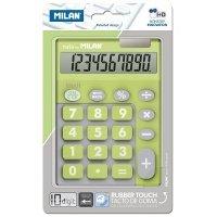 Калькулятор Milan 10 разрядов TOUCH DUO Rubber Touch, салатовый(ml.150610TDGRBL)