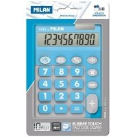 Калькулятор Milan 10 розрядів TOUCH DUO Rubber Touch, блакитний (ml.150610TDBBL)