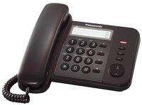 Телефон шнуровой Panasonic KX-TS2352UAB Black