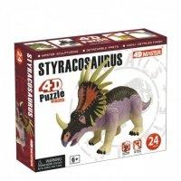 Объемный пазл 4D Master Динозавр Стиракозавр (26438)