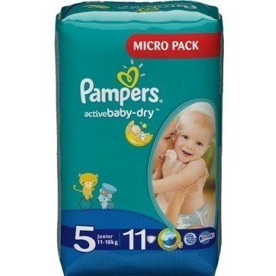 6fb82cf40da2 ≡ Подгузники PAMPERS Active Baby-Dry Junior (11-18 кг) 11шт ...