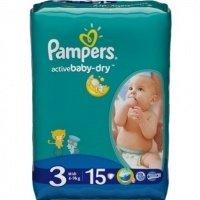 Підгузки PAMPERS Active Baby-Dry Midi (4-9 кг) 15 шт. (4015400583523)