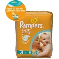 Подгузники PAMPERS Sleep & Play Junior (11-18 кг) 42 шт. (4015400224068)