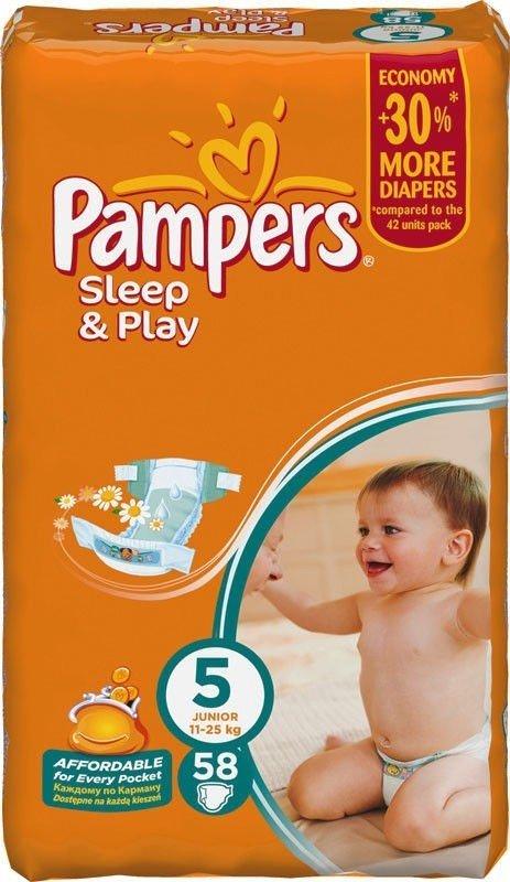 eb250bc11907 ≡ Подгузники PAMPERS Sleep   Play Junior (11-18 кг) 58 шт ...