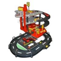 Игровой набор Bburago Гараж Ferrari 3 уровня, 2 машинки (18-31204)