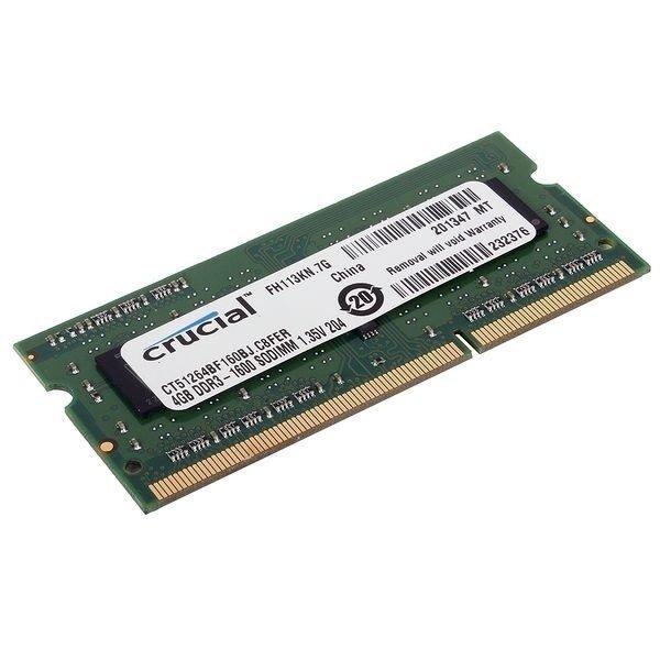 Купить Память для ноутбука Micron Crucial DDR3 1600 4Gb 1.5/1.35V (CT51264BF160BJ)