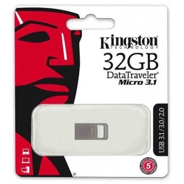Накопичувач USB 3.1 KINGSTON DT Micro 32GB Metal Silver (DTMC3/32GB) фото1