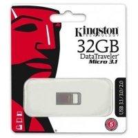 Накопичувач USB 3.1 KINGSTON DT Micro 32GB Metal Silver (DTMC3/32GB)