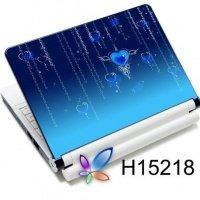 Наклейка на ноутбук Easy Link H15218 синее сердце