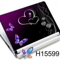Наклейка на ноутбук Easy Link H15599 бабочки сердца