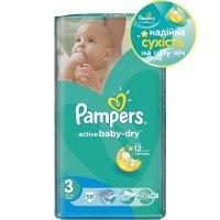 Подгузники PAMPERS Active Baby-Dry Midi (4-9 кг) 58 шт. (4015400735625)