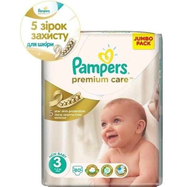 3d5d952625b2 Подгузники PAMPERS Premium Care Midi (4-9 кг) 80 шт. (4015400507499