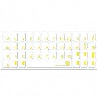 Наклейка на клавиатуру основа прозрачная символ желтый