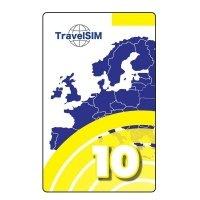 Ваучер пополнения счета TravelSim 10
