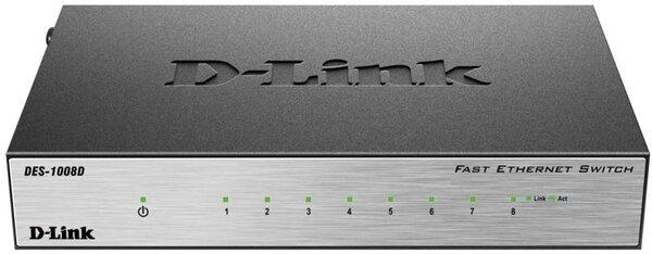 Купить Коммутаторы неуправляемые, КоммутаторD-LinkDES-1008D