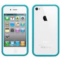 Чехол ACC для iPhone 4 Бампер Sky Blue