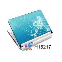 Наклейка на ноутбук Easy Link H15217 Намальована квітка на блакитному