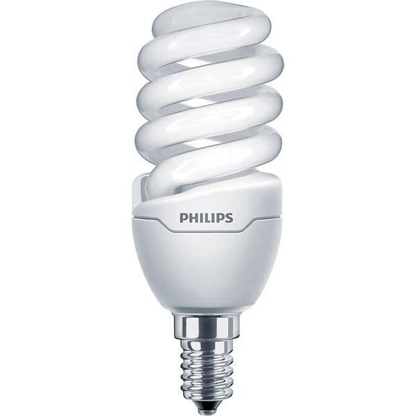 Лампа энергосберегающая Philips E14 12W 220-240V WW 1PF/6 Tornado T2 mini фото