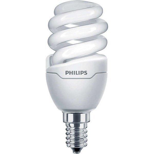 Лампа энергосберегающая Philips E14 8W 220-240V WW 1PF/6 Tornado T2 mini фото 1