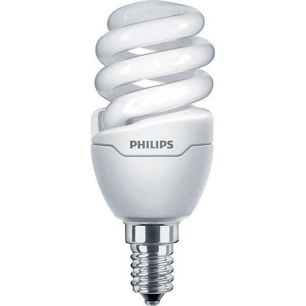Лампа энергосберегающая Philips E14 8W 220-240V WW 1PF/6 Tornado T2 mini фото