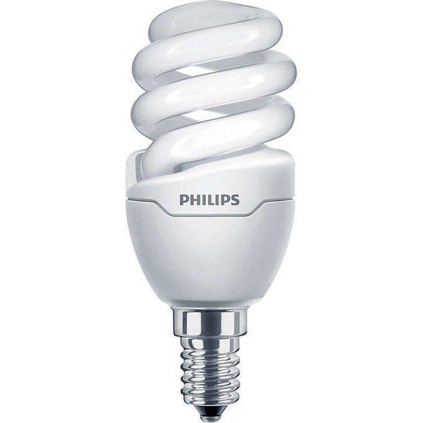 Лампа энергосберегающая Philips E14 8W 220-240V WW 1PF/6 Tornado T2 mini от MOYO