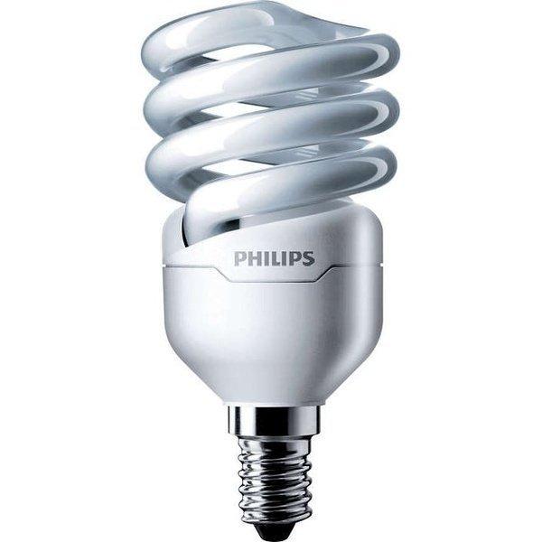 Лампа энергосберегающая Philips E14 12W 220-240V WW 1PF/6 Econ Twister фото