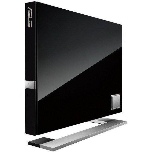 Внешний оптический привод ASUS SBW-06D2X-U Blu-ray Writer USB2.0 EXT Ret Slim Black фото