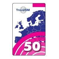Ваучер пополнения счета TravelSim 50