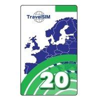 Ваучер пополнения счета TravelSim 20