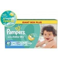 Подгузники PAMPERS Active Baby-Dry Maxi+ (9-16 кг) 96 шт. (4015400737315)