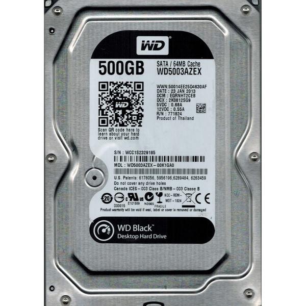 Купить Жесткий диск внутренний WD 3.5 SATA 3.0 500GB 7200RPM 6GB/S/64MB WD5003AZEX (WD5003AZEX)