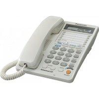Телефон шнуровой Panasonic KX-TS2368RUW White (двухлинейный)