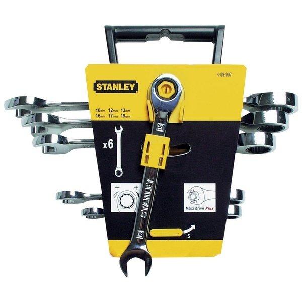 Купить Набор комбинированных ключей с трещоткой Stanley