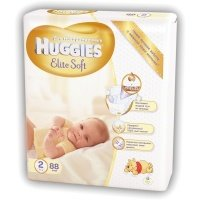 Підгузки Huggies Elite Soft 2 Mega 88 шт (5029053533810)