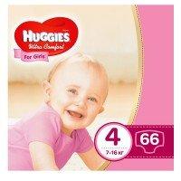 Підгузки Huggies ULTRA COMFORT 4 для дівчаток 66 шт (5029053543628)