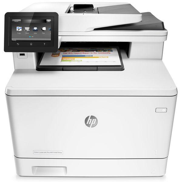 Купить МФУ лазерное HP Color LJ Pro M477fnw c Wi-Fi