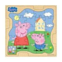 Деревянный пазл Peppa Pig Пеппа и Джордж на прогулке (25125)