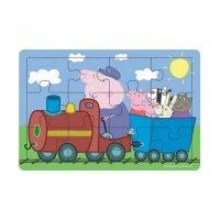 Деревянный пазл Peppa Pig Паровоз дедушки Пеппы (25122)