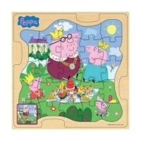 Деревянный пазл Peppa Pig Королевская семья Пеппы (25123)